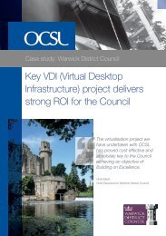 View the full case study (pdf) - OCSL