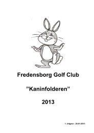 Kaninfolder 2013 ver 1 - Fredensborg Golf Club