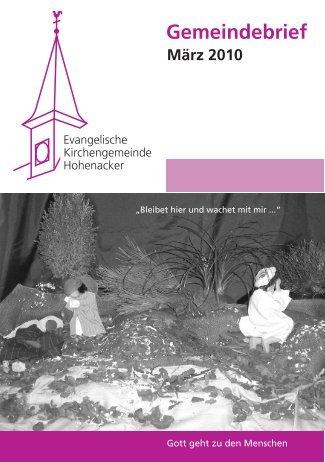 Gemeindebrief März 2010 - Evangelische Kirchengemeinde ...