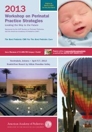 Workshop on Perinatal Practice Strategies - American Academy of ...