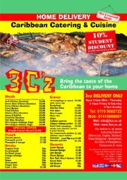 menu - Caribbean Catering & Cuisine