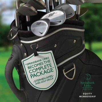 EQUITY MEMBERSHIP - Springbank Links Golf Club