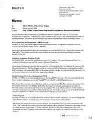 MARSH Tanna Prince, CEBS, FLMI Senior Vice ... - City of Las Vegas