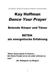 beten als energetische erfahrung (pdf) - Kay Hoffman