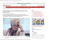 Berner Regierung will ASP-Sparpaket nicht aufschnüren ... - BSPV