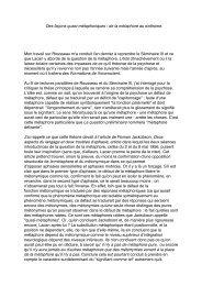 argument - Ecole lacanienne de psychanalyse
