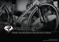 betriebs- und wartungsanleitung ihres ridley-fahrrads