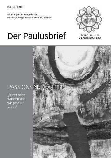 Februar 2013 - Ev. Paulusgemeinde Lichterfelde
