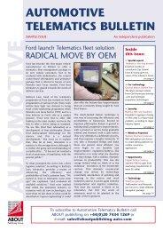 AUTOMOTIVE TELEMATICS BULLETIN - ABOUT Publishing Group ltd