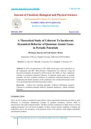 A Theoretical Study of Coherent To Incoherent Dynamical Behavior ...