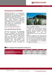 Marktanalyse Slowenien - Research-Fellows