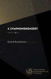 4. Symphoniekonzert - Staatskapelle Dresden