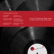 Flyer (PDF). - Schallplatten herstellen