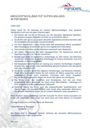 PDF Download - im Restaurant Paradies