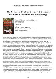 The Complete Book on Coconut & Coconut Products - NIIR Project ...