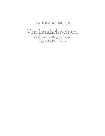 Von Landschweinen, - für Dort-Hagenhausen-Verlag