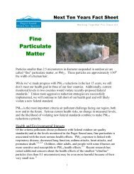 Fine Particulate Matter Fact Sheet - Puget Sound Clean Air Agency
