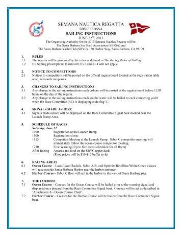 Semana Nautica Regatta - Santa Barbara Yacht Club