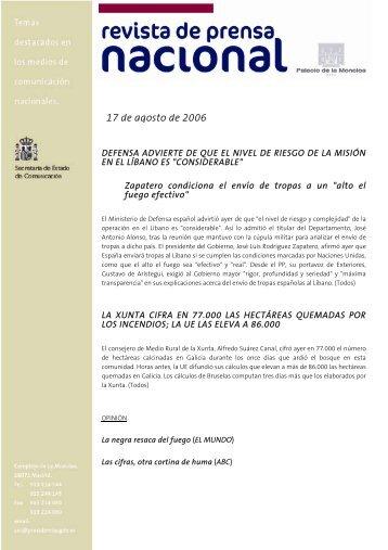 17 de agosto de 2006 - La Moncloa