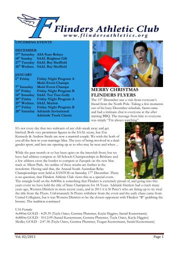 MERRY CHRISTMAS FLINDERS FLYERS - Flindersathletics.org