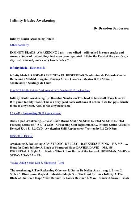 Download Infinity Blade: Awakening pdf ebooks by Brandon