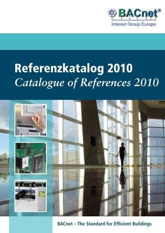 Referenzkatalog 2010 - BACnet Interest Group Europe eV