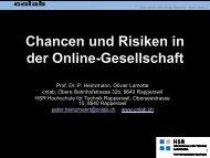 Chancen und Risiken in der Online-Gesellschaft - cnlab