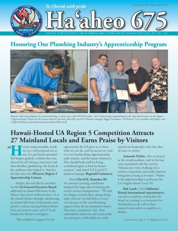 Vol. 5 No. 2 Apr-Jun 2013 - Plumbers and Fitters Union Local 675