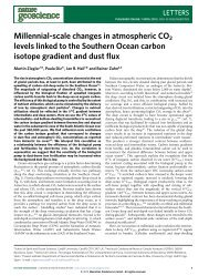 Millennial-scale changes in atmospheric CO2 levels linked to the ...