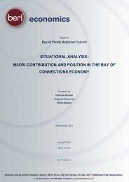 māori contribution and position in the bay of connections economy