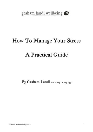 """How To Manage Your Stress"" guide - Graham Landi Wellbeing"
