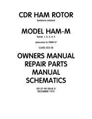 CDR HAM ROTOR MODEL HAM-M OWNERS MANUAL ... - N4brf.org