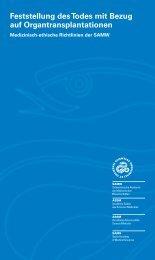 Feststellung des Todes mit Bezug auf Organtransplantation - EDHEP