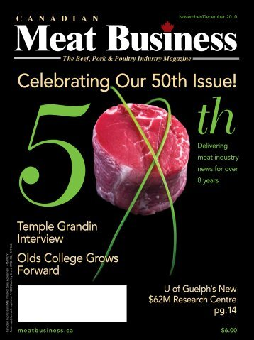 Celebrating Our 50th Issue! - Canadian Meat Business