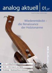 analog aktuell 1/2007 – Leseprobe - Analogue Audio Association