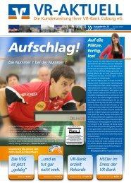 Kundenzeitung Nr. 26 - Sommer 2013 - VR-Bank Coburg eG
