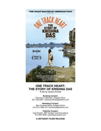 ONE TRACK HEART: THE STORY OF KRISHNA DAS - Zeitgeist Films.