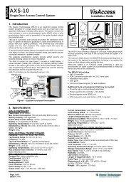 Installation Guide - Visonic Technologies