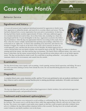 Number 4/April 2012 Behavior Service - University of Minnesota ...