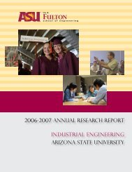 2006-2007 ANNuAL RESEARCH REPORT INDuSTRIAL - School of ...