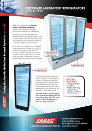 performer laboratory refrigeratorS - LabEc
