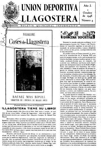 UNION DEPORTIV A Año .1. - Arxiu Municipal de Llagostera
