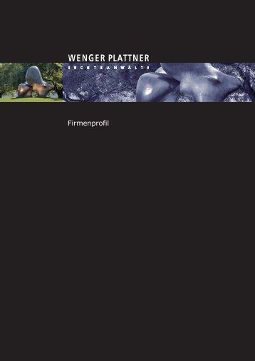 Firmenprofil - Wenger Plattner | Home