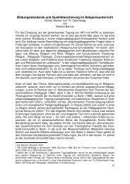 Bildungsstandards und Qualitätssicherung im ... - wwwuser