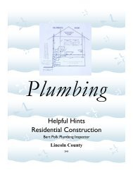 Plumbing Guide - Lincoln County, Oregon