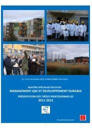 Télécharger la présentation des thèses professionnelles 2011-2012