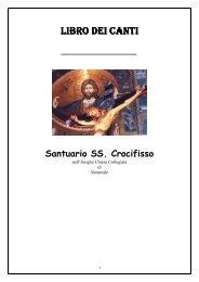 LIBROdeiCANTI SS CROCIFISSO 2011 - Santuario SS. Crocifisso di ...