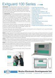 Exitguard 100 Series - Safelincs