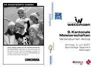 9.Kantonale Meisterschaften - Aargauer Turnverband