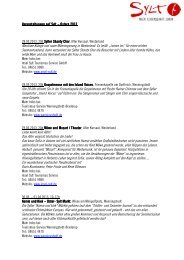 Download Programm auf der Insel Sylt Ostern 2013 - Nordfriesland ...